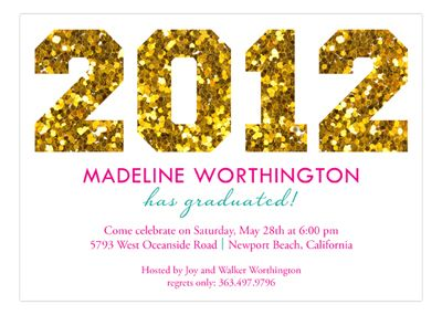 I can't help it, i just love this glitter grad announcement...