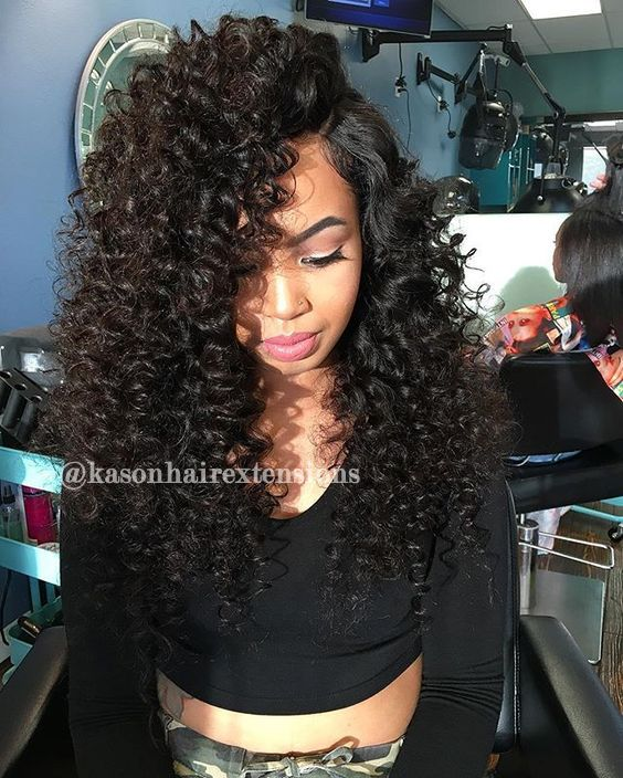 Loose Curly Hair Weave Unprocessed Peruvian Virgin Hair Full And