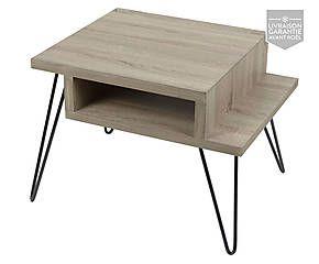 Bout de canapé bois, métal et placage, naturel - L60