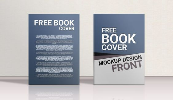 Standing Hardcover Book Front Back Mockup Mockupworld Book Cover Template Book Cover Mockup Free Book Cover Templates