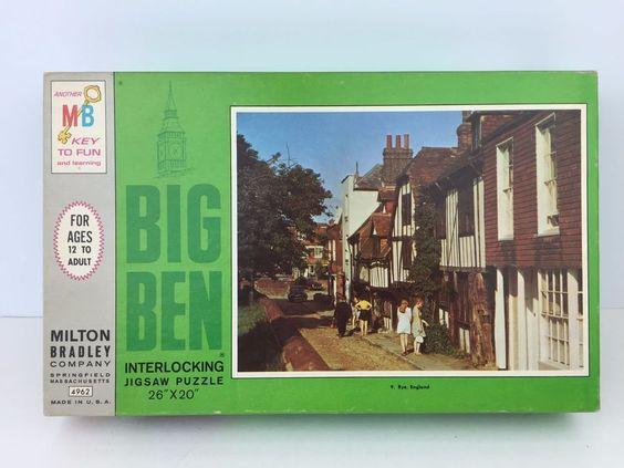 Big Ben Jigsaw Puzzle Rye England Vintage 1968 Unopened #BigBen