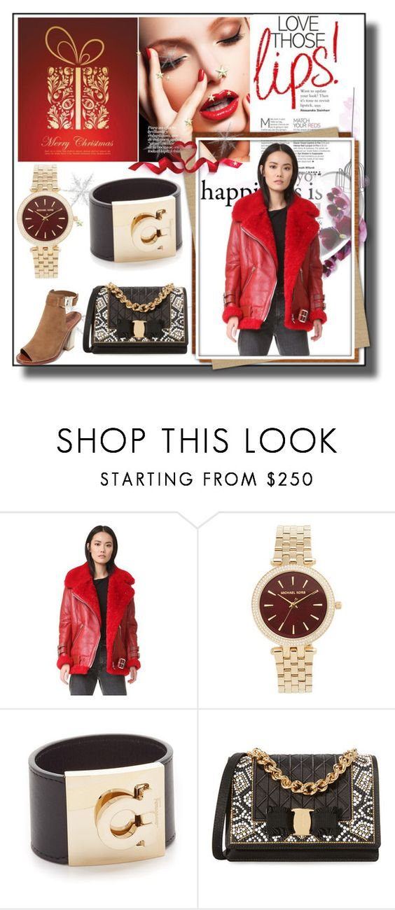"""""""Christmas Style Diary!!"""" by stylediva20 ❤ liked on Polyvore featuring Acne Studios, Michael Kors, Salvatore Ferragamo and Tory Burch"""