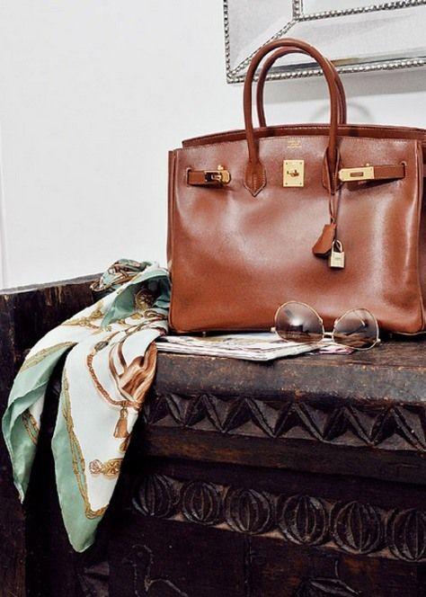 hermes bag and scarf Frockage: Hermes Birkin bag
