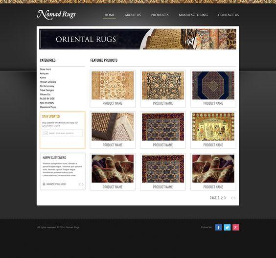 Nomad Rugs 01 | Website Designs | Pinterest | Website designs