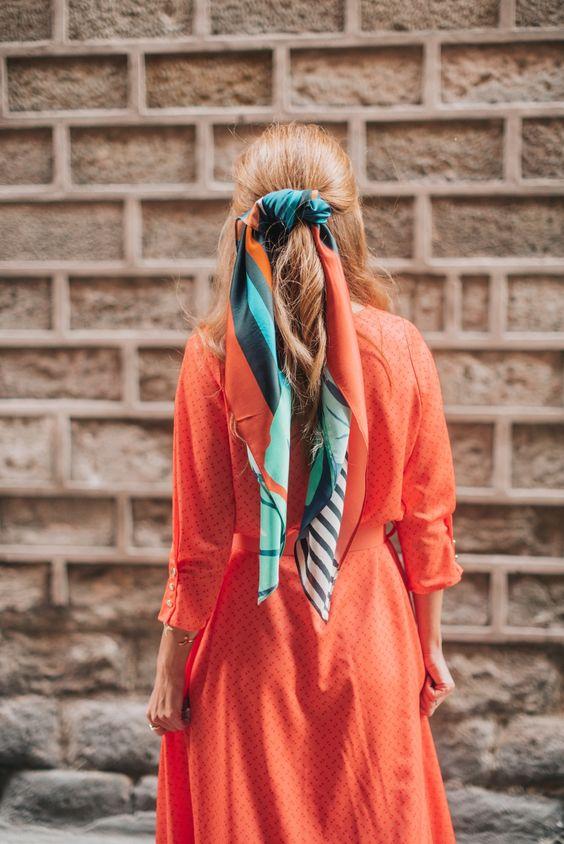 VESTIDO NARANJA - NUEVA COLECCIÓN A TRENDY LIFE CON MYSOZO. #atrendylife #mysozo #shopping #nuevacoleccion #fashion #modamujer #look #accesorios #pañuelo #streetstyle #primaveraverano2018 #vestidonaranja #vestidomujer