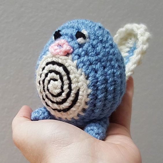 Poliwag is joining the party today. #crochetgo #pokemongo #poliwag