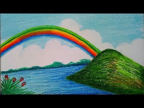 How To Draw Scenery Of Dolphin Step By Step Easy Draw Youtube