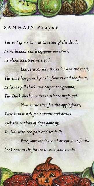 Samain:  Samhain Prayer.: