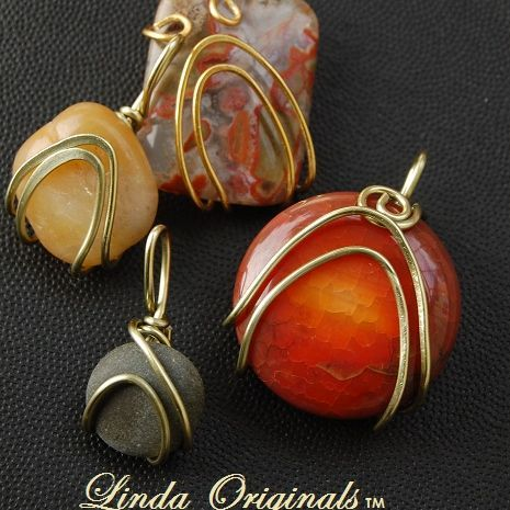402 Beach Stones | Wire wrapped stones, Wire wrapping and Stone