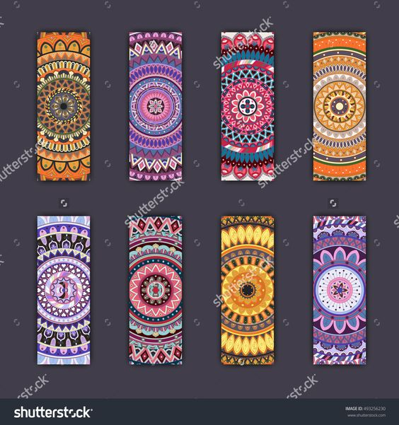 Banner Card Set With Floral Colorful Decorative Mandala Elements Background. Tribal,Ethnic,Indian, Islam, Arabic, Ottoman Motifs. Stock Vector Illustration 493256230 : Shutterstock