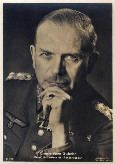 ✠ Heinz Guderian (June 17th, 1888 - May 14th, 1954) RK 27.10.1939 General der Panzertruppe K.G. XIX. AK (mot.) 17.07.1941 [24. EL] Generaloberst Befh. Pz.Gr. 2