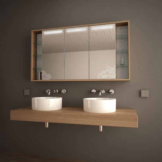Bad-Spiegelschrank mit Licht Arida 989705252 Gäste WC - badezimmer spiegelschrank mit beleuchtung günstig