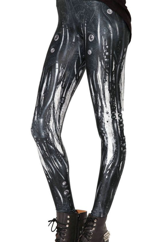 Woman Armor Robot Animation Machine printed legging S-4XL Slim leggings 3792