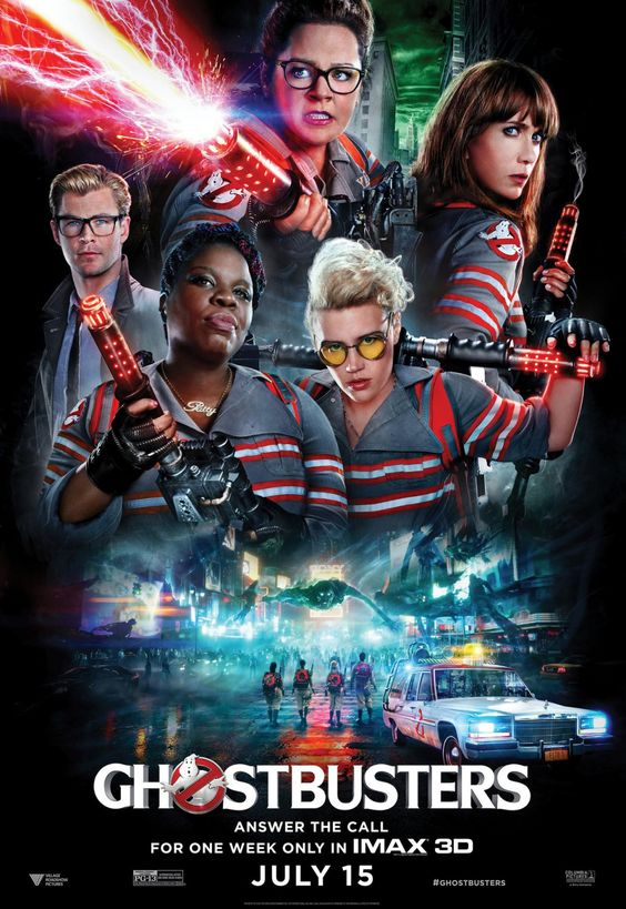 Image result for ghostbuster 2016 movie poster