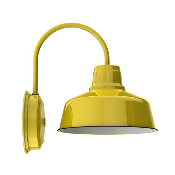 """10"""" Esso Wall Sconce, 550-Yellow"""