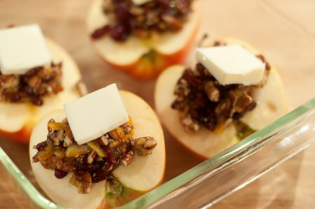 Baked Apples with Cranberries and Pecans from Never Enough Thyme