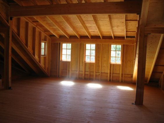 shed dormer - interior -- always fun to look at framing!