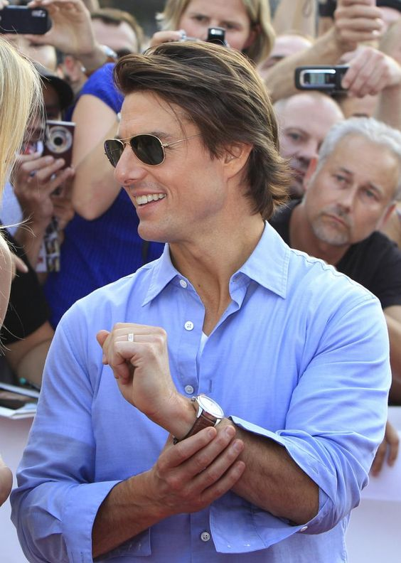 トム・クルーズのシャツ姿