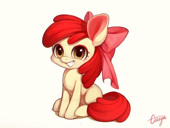 #948396 - adorabloom, apple bloom, artist:ciciya, cute, grin, pixiv, safe, solo - Derpibooru - My Little Pony: Friendship is Magic Imageboard