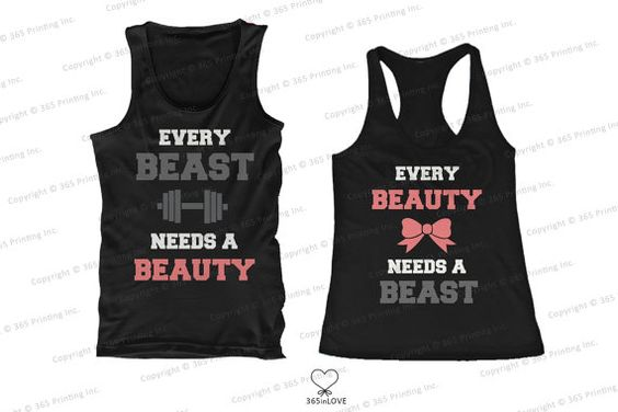 Cute Matching Beauty and Beast Need Each Other Couples Matching Tank Tops: