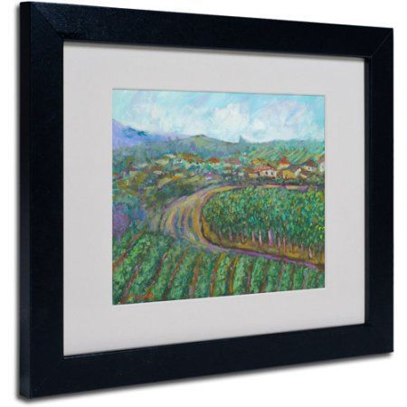 Trademark Fine Art Cherry Trees by Manor Shadian, Black Frame, Size: 11 x 14, Multicolor