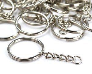 TWONE Metal Split Keychain Ring Parts - 100 Key Chains Wi...