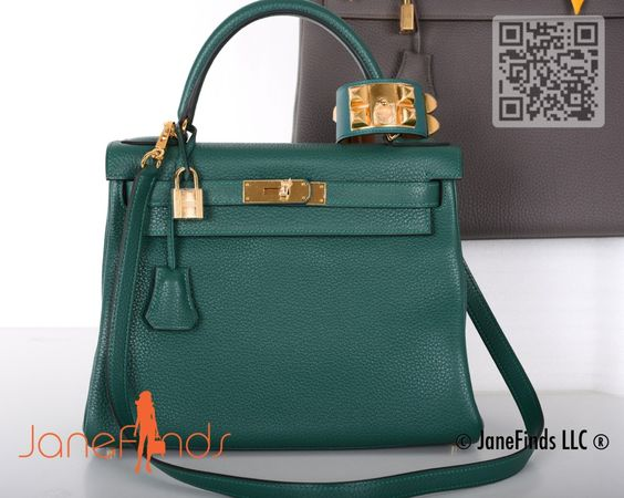 birkin bag replica - HERMES KELLY BAG 28CM MALACHITE GOLD HARDWARE TOGO   Handbags ...