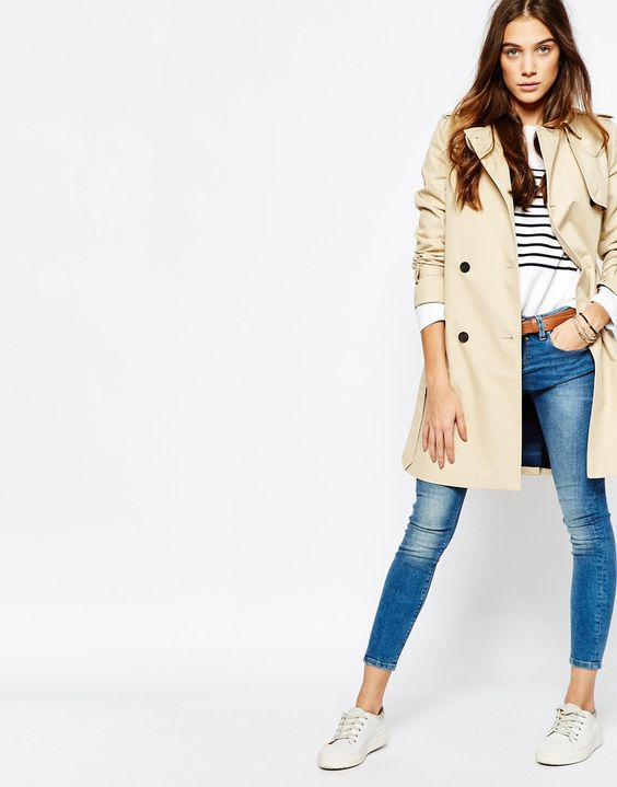 Image 4 of Jack Wills Traditional Belted Trench Coat