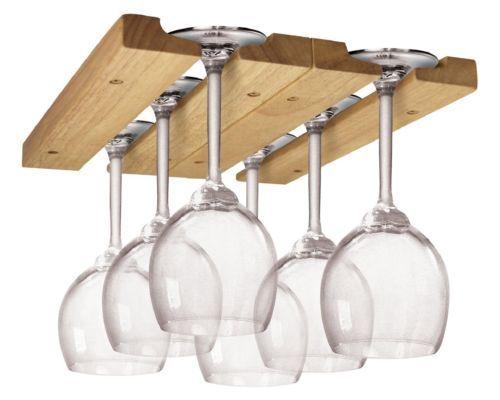 Hanging-Wine-Glass-Rack-Holder-Storage-Organizer-Wooden-Bar-Stemware-Dining-Home