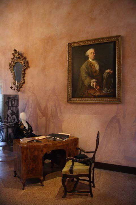 Innenraum von Casa Goldoni, Porträt des Kömediendichters
