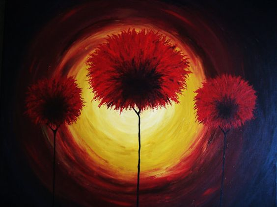 Tranquil Red by CoFallonArt on Etsy, $80.00