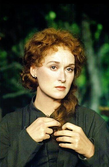 Meryl Streep photographed on the set of 'The French Lieutenant's Woman' (Karel Reisz, 1981)