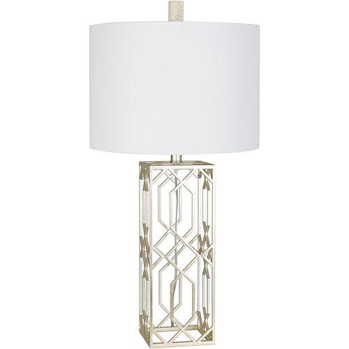 Surya Alyssia Antiqued Silver Finish One Light Table Lamp Table Lamp Lamp Stylish Table Lamps