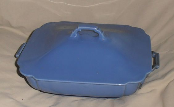 Homer Laughlin Riviera Blue Covered Casserole Dish