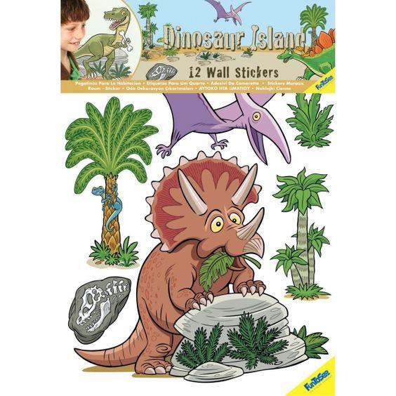 Fun To See Zestaw naklejek Dinozaury - Dekoracja pokoju - Satysfakcja.pl
