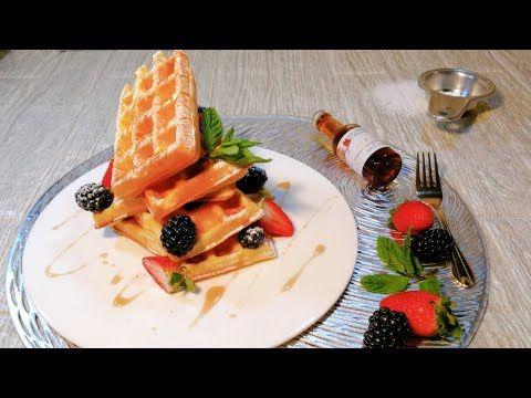 وافل بلجيكي على أصوله من مطبخ الشيف علا نيروخ شيف عالطريق Youtube Waffles Food Breakfast