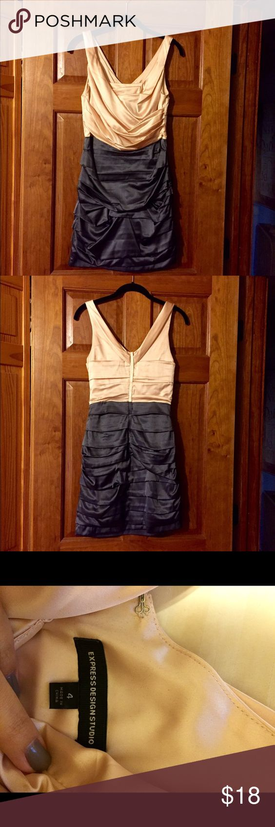 Express Pink and Gray Dress Express pink and gray short dress. Size 4. Excellent condition. Back zip. Very flattering! Express Dresses