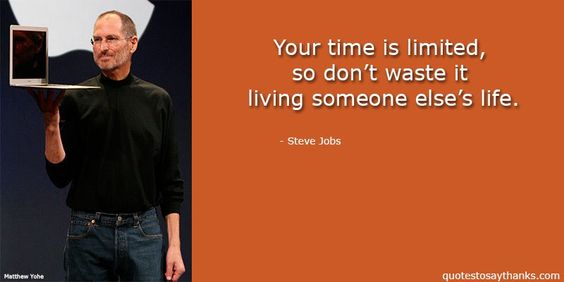Inspirational Quote - Time is Limited #SteveJobs #quotes #liveyourlife