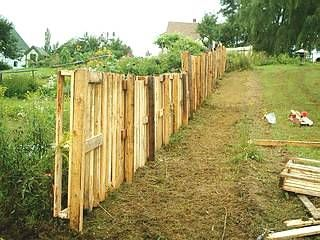 Pallet Fence Fence And Fence Posts On Pinterest