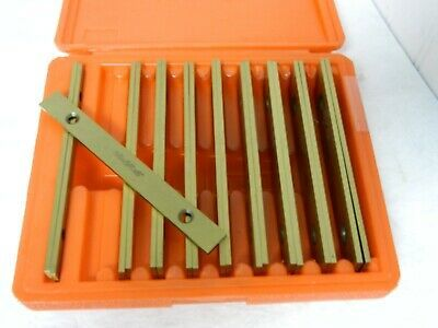 """Avenger Tools 20 Piece 6/"""" Long Alloy Steel Parallel Set AT-PSTC-1//8 Incomplete"""