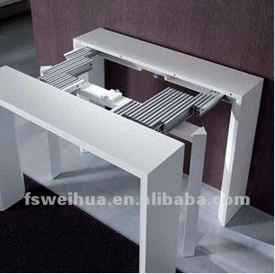 48mm width adjustable extension folding table slide for Table console retractable
