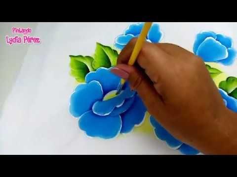 Pintura En Tela Para Principiantes Como Pintar Flores Azules Youtube Flores Pintadas Como Pintar Flores Pintura En Tela