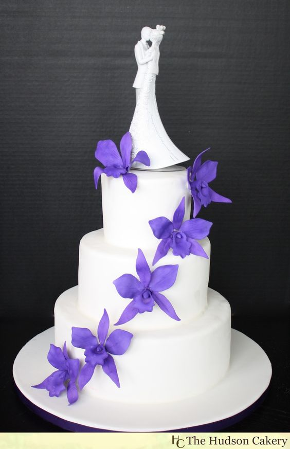 blue orchid wedding cake topper white wedding cakes wedding and simple cakes on 11998