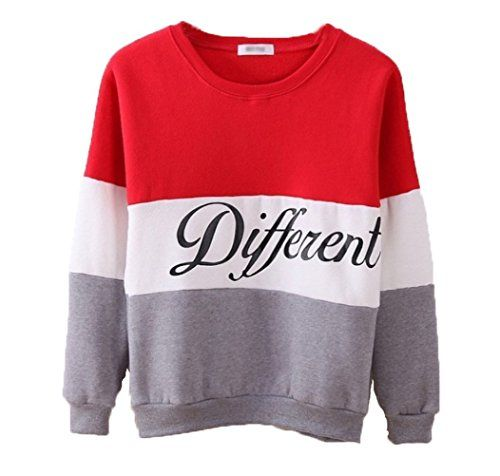 #Cute Hoodies Sweater Pullover Letters Diffferent Printed Mix Color Medium Red XXL
