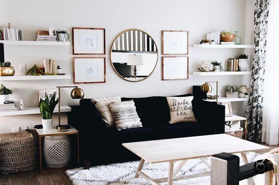17k Likes, 43 Comments - LIKEtoKNOW.it (@liketoknow.it) on Instagram: âTextured prints and pops of gold, take a @liketoknow.it.home tip on cozy chic living room decor aâ¦â