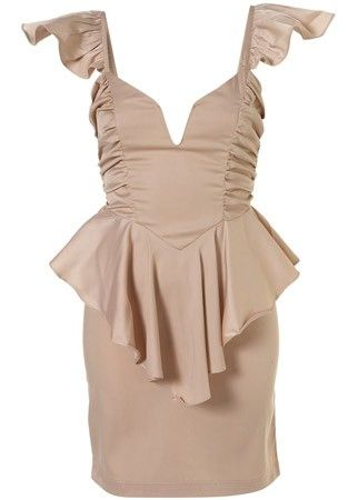 Rare frill peplum dress, £49 - Purse-pleasing partywear, party dresses, bargain, frocks, dress, dresses, cheap, affordable, under, £50, high street, christmas, new year's eve, Marie C