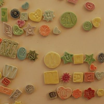 alphabet tiles, magnetic- could be beads