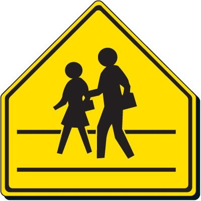 ped crossing safety signs pedestrian crossing sign