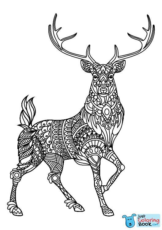 Animal Coloring Pages Pdf Coloring Animals Mandala With Regard To Deer And Dog Coloring Pa Deer Coloring Pages Animal Coloring Books Mandala Coloring Pages