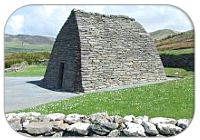 "The Gallarus Oratory (Irish: Séipéilín Ghallarais, literally ""The Church of the Place of the Foreigners"") is believed to be an early Christian church located on the Dingle Peninsula, County Kerry, Ireland. Though the building is believed to have been built between the 6th century and 9th century, some believe it could have been built as late as the 12th century"